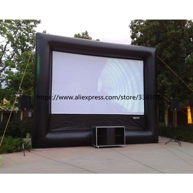 Outdoor Cinema Rear Projection Film Portable Motorized Inflatable Projector Movie Screen