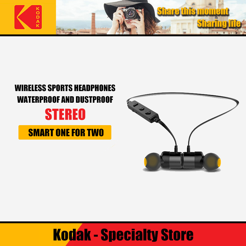Kodak Wireless Bluetooth <font><b>Earphones</b></font> <font><b>Noise</b></font> <font><b>Cancelling</b></font> Headset Neckband life Sport stereo In-Ear With Microphone for iPhone Xs image