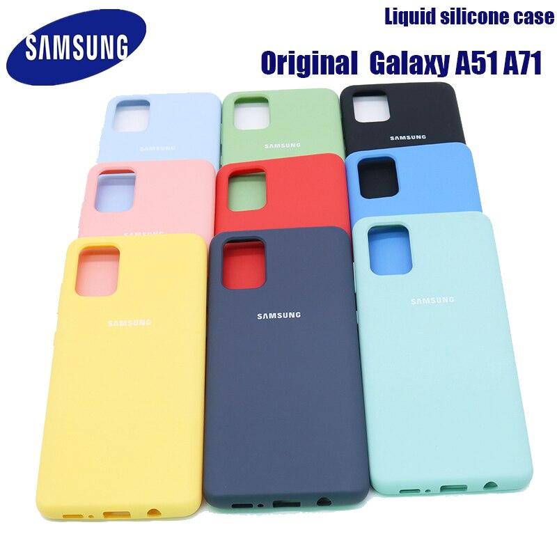 Чехол A51 A71 Оригинальный Для Samsung Galaxy A51 A71 шелковистый силиконовый чехол высокого качества мягкий на ощупь защитный чехол для Galaxy A51 A71