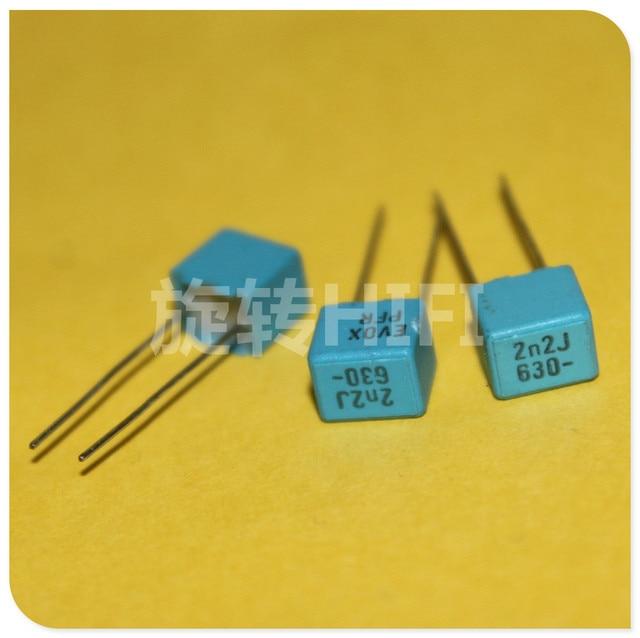 20PCS NEUE EVOX PFR5 2200PF 630V P5MM MKP 222/630V film EVOX RIFA PFR 222 2.2nf/ 630v 2200P 2N2 0,0022 UF