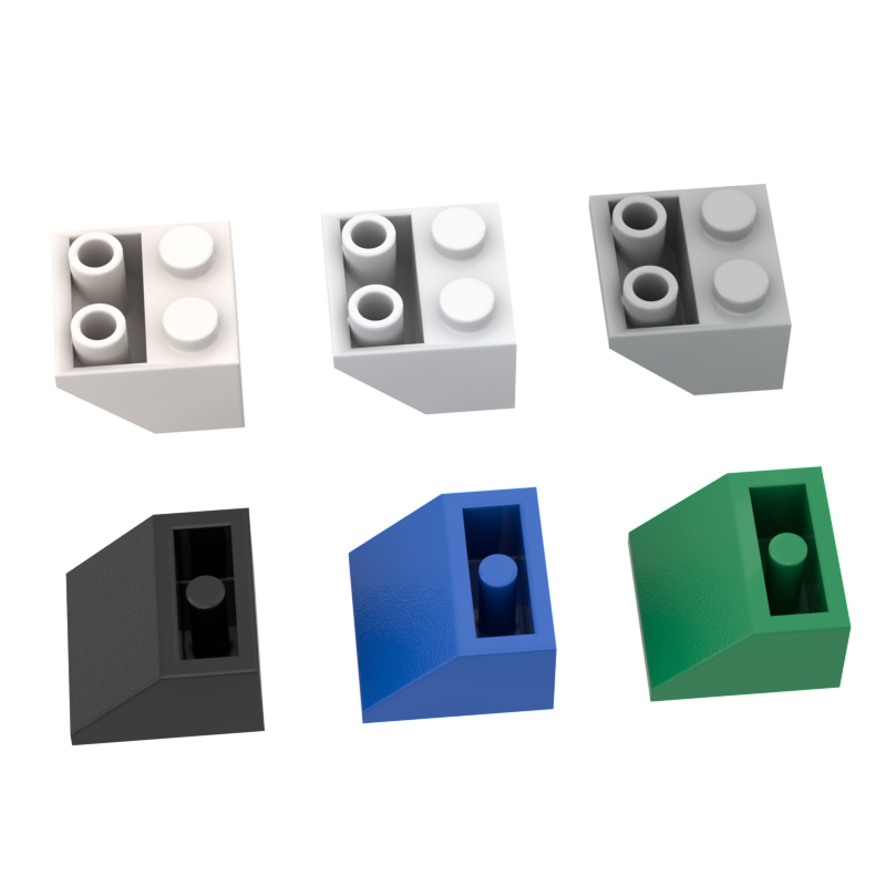 10PCS 3660 2x245 DIY Assembles Inverted slope Building Blocks Bricks Bulk Model City Classic Brand Kids DIY Toys