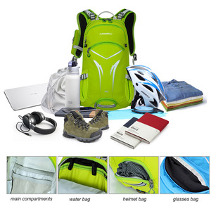 Image 5 - 20L אופניים הידרציה תרמיל, Moutain טיולים קמפינג סולם מים תיק עם כיסוי גשם, עמיד למים ריצה הידרציה תרמיל