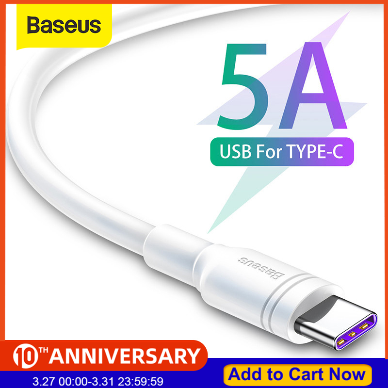 Baseus 5A USB Type C Cable Quick Charge USB C Fast Charger Cable for Huawei P30 Mate 20 Pro P20|Mobile Phone Cables| |  - AliExpress