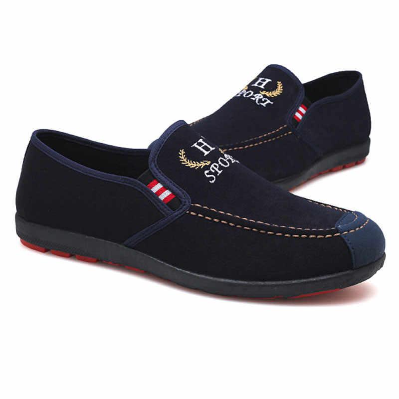 LIN KING nuevo diseño zapatos casuales de cuero para hombre primavera otoño hombre mocasines suela suave mocasines zapatos deslizantes al aire libre zapatos planos zapatos