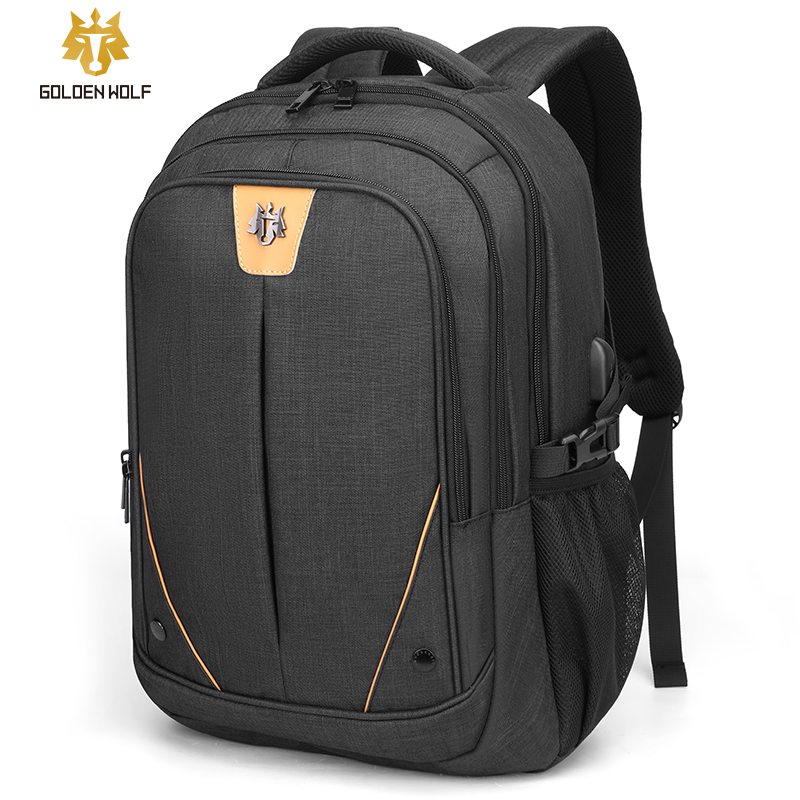 Goloen Wolf 18 Inches Travel Laptop Backpack Usb Large Capacity Teenager School Bag Male Casual Backpacks Mochilas For Men Bags
