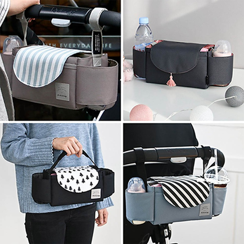 Baby Stroller Bags Large Capacity Maternity Nappy Bag For Mother Travel Diaper Nursing Hanging Storage Organizer Bag