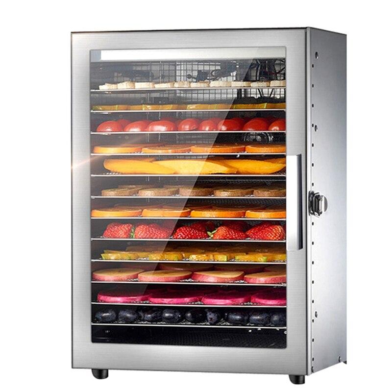 Déshydrateur alimentaire Commercial Machine déshydrateur de fruits acier inoxydable pour ménage thé légumes viande pour animaux de compagnie 12 plateaux séchoir alimentaire