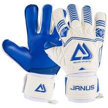 Gants de gardien de but pour hommes Protection des doigts et des poignets Double face épaissie 4mm gants de gardien de but en Latex gants de gardien de but de Football