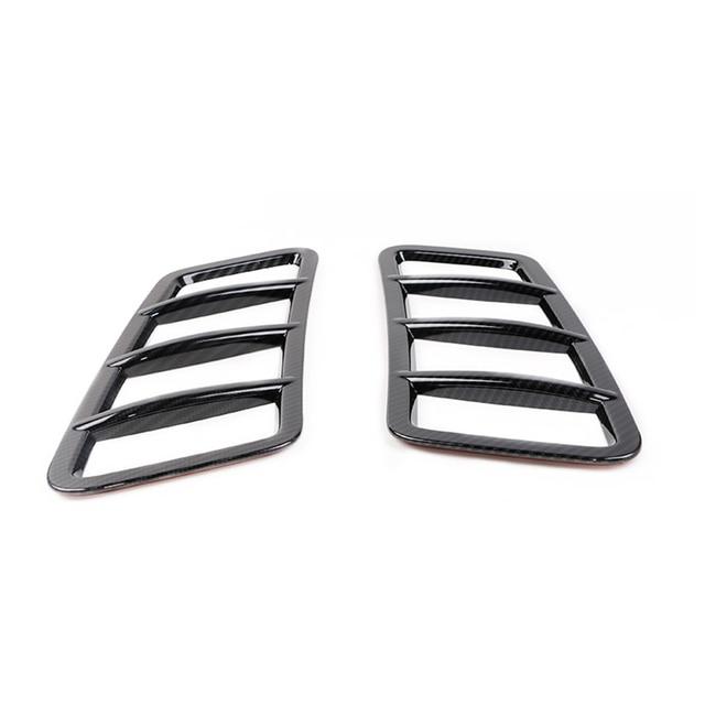 Car Hood Engine Air Outlet Frame Cover Carbon Fiber Accessories For Mercedes Benz GLE ML 2012-2019 / GL GLS 2013-2019 / W166 6