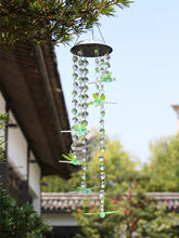 Bead-Dragonfly Solar Lamp Solar Wind Chime Lamp LED Color Changing Bead-Dragonfly Solar Lamp Wind Chime Lamp Garden Decoration