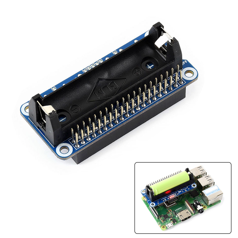 Raspberry Pi 4B/3B+/3B/Zero Lithium Battery Expansion Board 5V Regulated Output Bidirectional Fast Charge SW6106 Chip For RPI