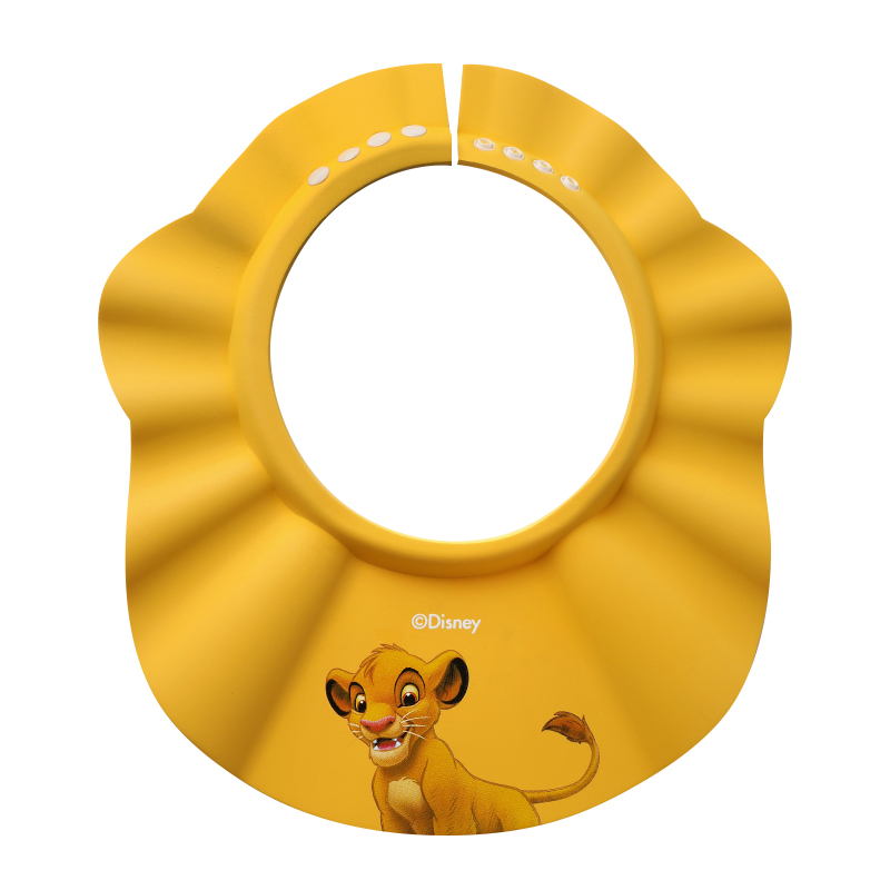 Disney Yellow Lion King Simba Mickey Mouse Toddler Shower Hat Shampoo Cap Baby Shower Shield Hat Children for washing 1-10 Years