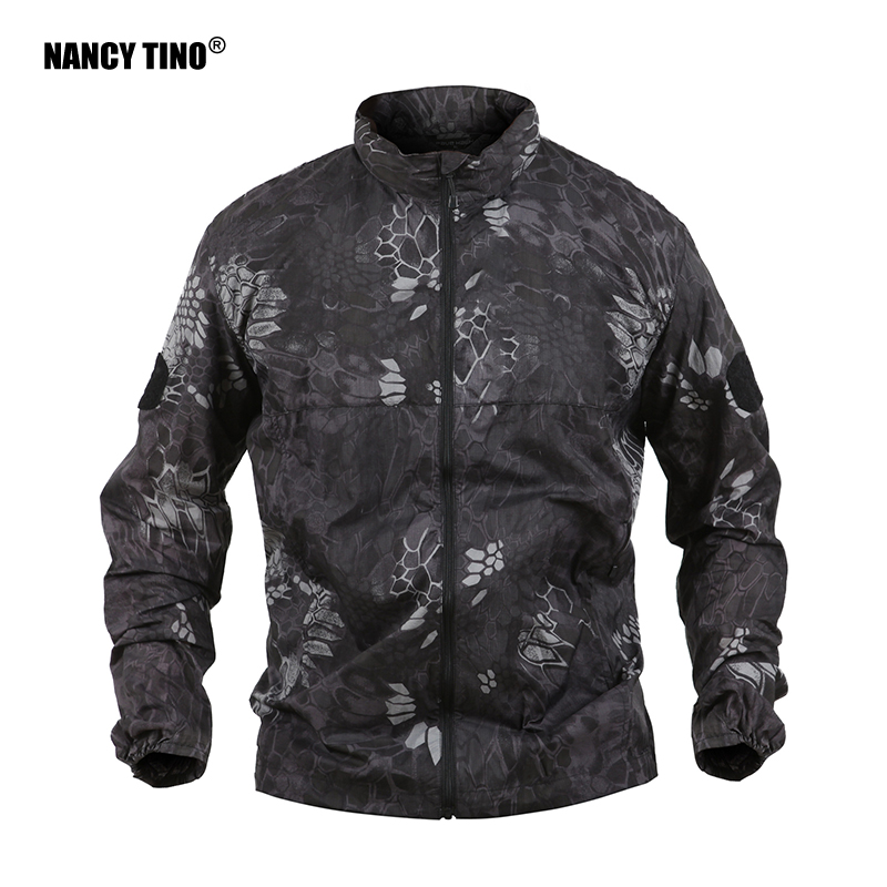 NANCY TINO Quick Dry Sun-Proof Windbreaker Solid Color Jacket Hidden Cap Camouflage Strategy Fishing Clothes Unisex Hunting