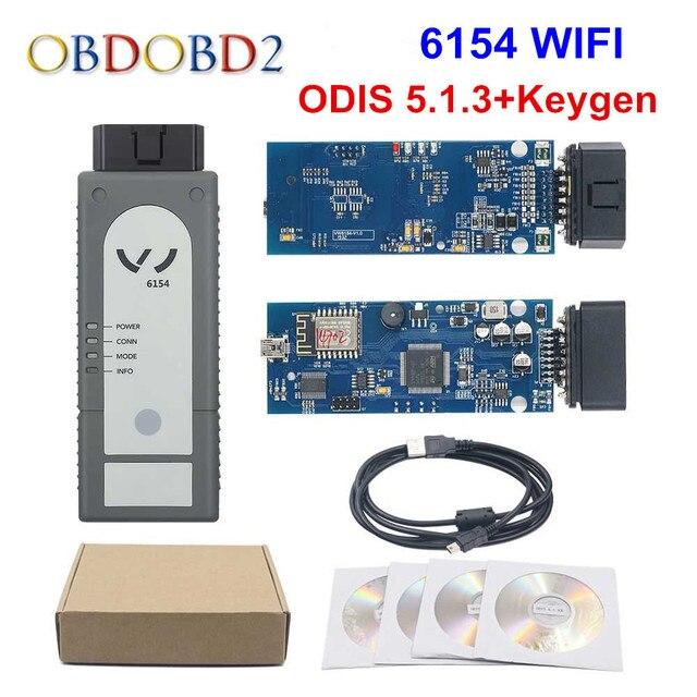 Herramienta de diagnóstico, WIFI/Bluetooth 6154 ODIS V5.1.6 Chip completo OKI 6145, mejor que 5054A V4.33, compatible con UDS