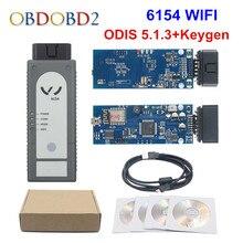 Versão mais recente wifi/bluetooth 6154 odis v5.1.6 chip completo oki 6145 ferramenta de diagnóstico melhor do que 5054a v4.33 suporte uds