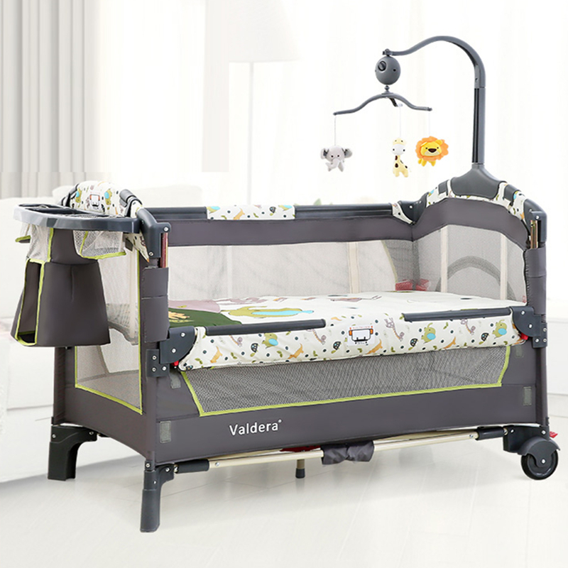 Valdera Portable Crib Foldable Mobile Baby Bed Multi-function Newborn Bed Stitching Beds Free Shipping