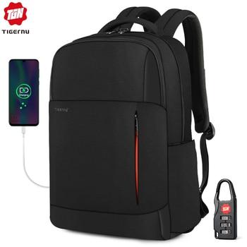 2020 Tigernu New Fashion RFID Anti Theft Men 15.6 inch Laptop Backpack USB Charging Male Female Waterproof School Bags Mochilas