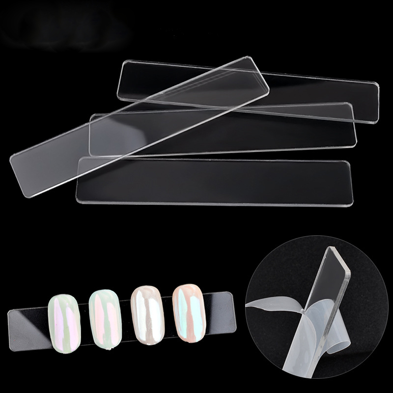 10pcs Acrylic Clear False Nails Tips Display Stand Board Rectangle UV Gel Polish Practice Tool Nail Art Works Displays Bar Strip| |   - AliExpress