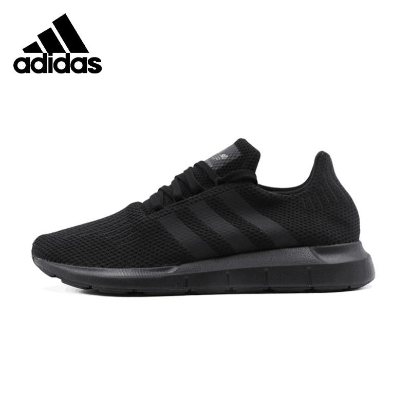 Original Adidas SWIFT RUN Womens Black Running Light-Sneakers Outdoors Sports