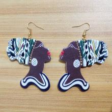 Модные деревянные серьги fuyier милые коричневые африканские