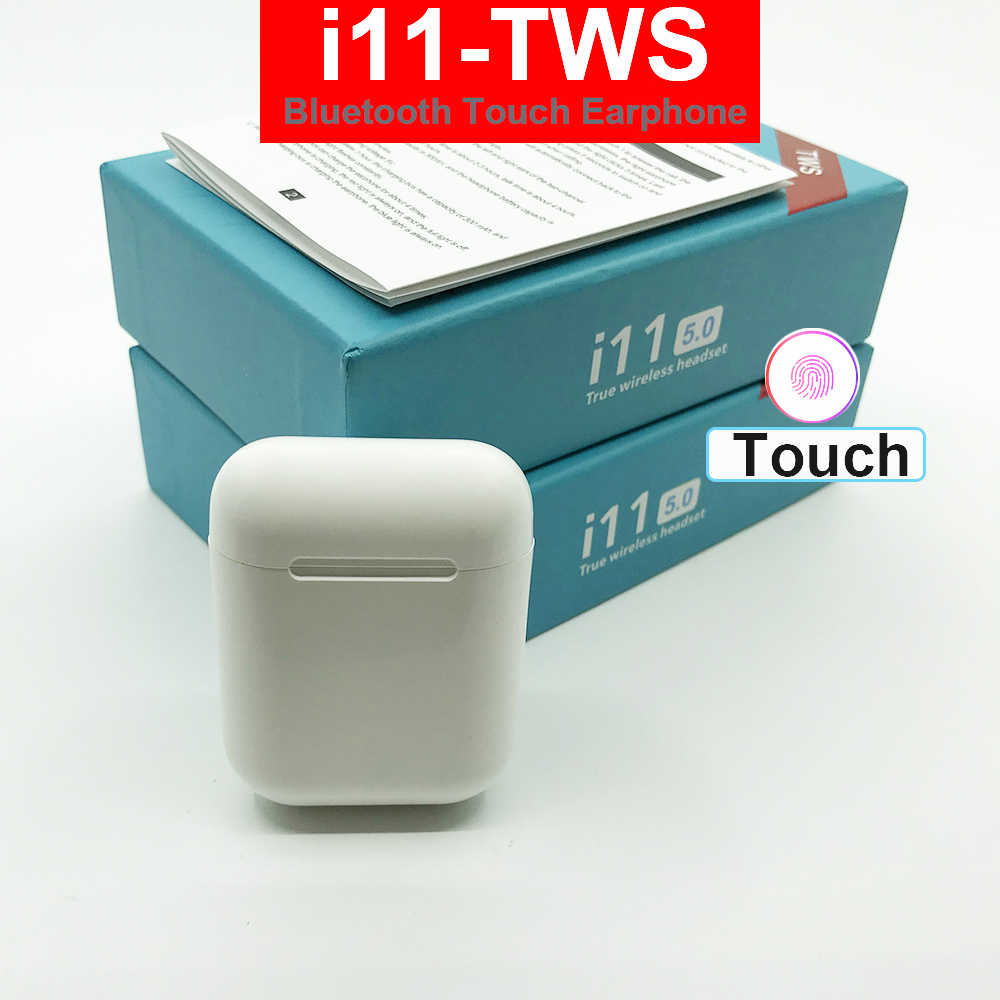 Touch Control i11 <font><b>Tws</b></font> Wireless Bluetooth 5.0 Earphone Mini Earbuds Sport Headset With Mic Charging Box for i12 i13 i14 For phone image