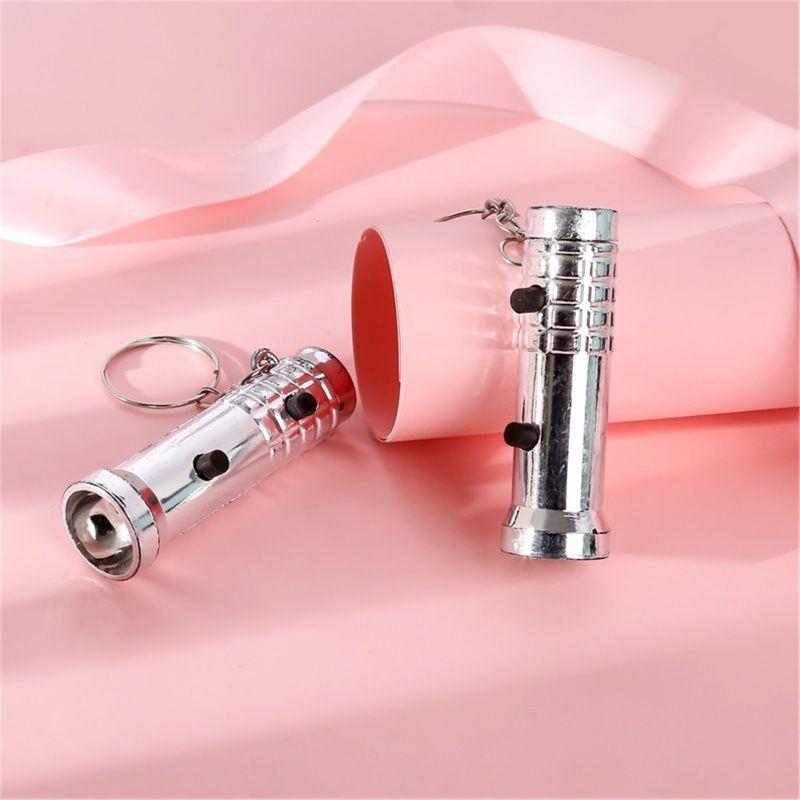 2в1 мини фонарик детектор УФ свет брелок дети игрушка подарок