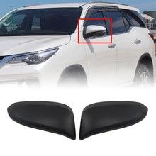 Cubierta de espejo de puerta lateral para coche, embellecedor negro mate para Toyota Hilux Revo 2015 201 2017 2018