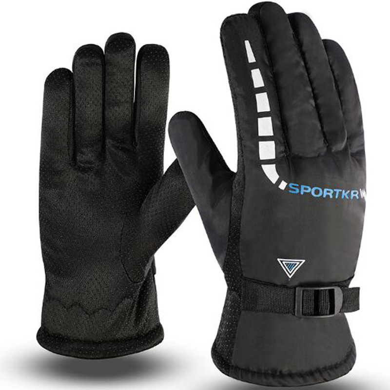 Non-slip Skiing Add Plush Upset Gloves Fashion Autumn Winter Warm Motorcycle Riding Men Gloves