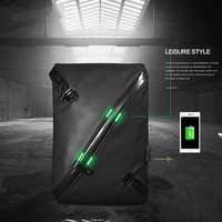 2019 Usb men's shoulder bag canvas waterproof Messenger bag version of the anti theft chest bag for male