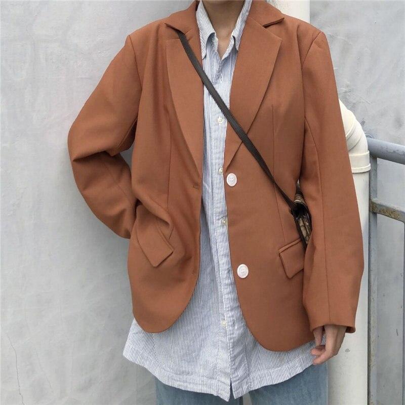 HziriP 2019 Gentle Retro Chic Fashion Casual Blazers Women Elegant Office Ladies Autumn Loose OL All Match Full-Sleeved Blazers