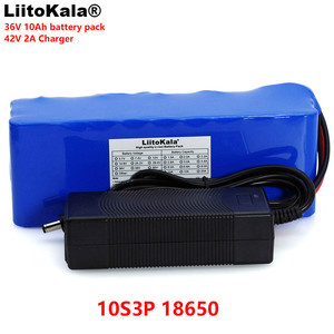 Image 1 - LiitoKala 36V 10Ah 10S3P 18650 Rechargeable battery pack ,modified Bicycles,Electric vehicle  li lon batteries +2A Charger