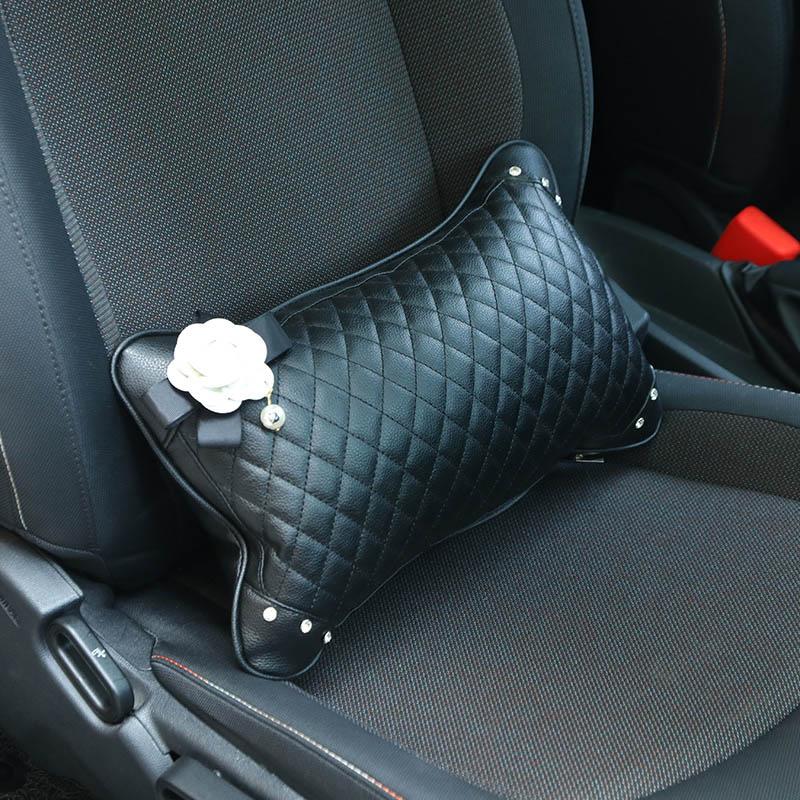 Cute-Rose-Flower-Car-Headrest-Neck-Pillow-Leather-Crystal-Fashion-Women-Car-Waist-Pillow-Seat-Supports (1)