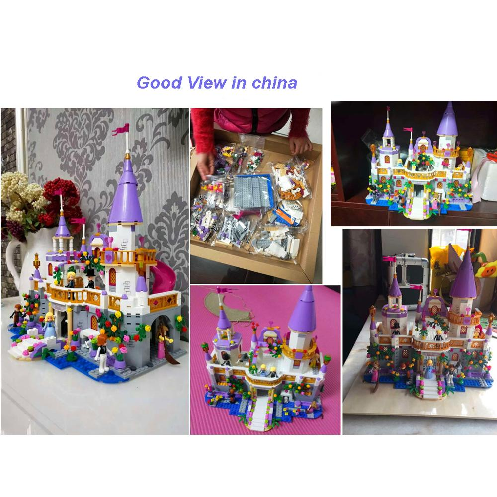 Image 2 - 731pcs Romantic Princess Castle Building Blocks Compatible With Legoed Girl Toys Gifts Kids Assembling Brick Friend Model Toys-in Blocks from Toys & Hobbies