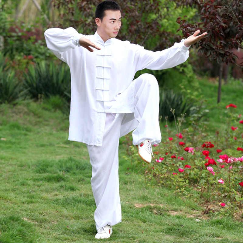Zooboo Hoogte 110Cm-185Cm Zwart Wit Kameeldons Poplin Kungfu Taichi Suits Uniform Fitness Sets Man Vrouw
