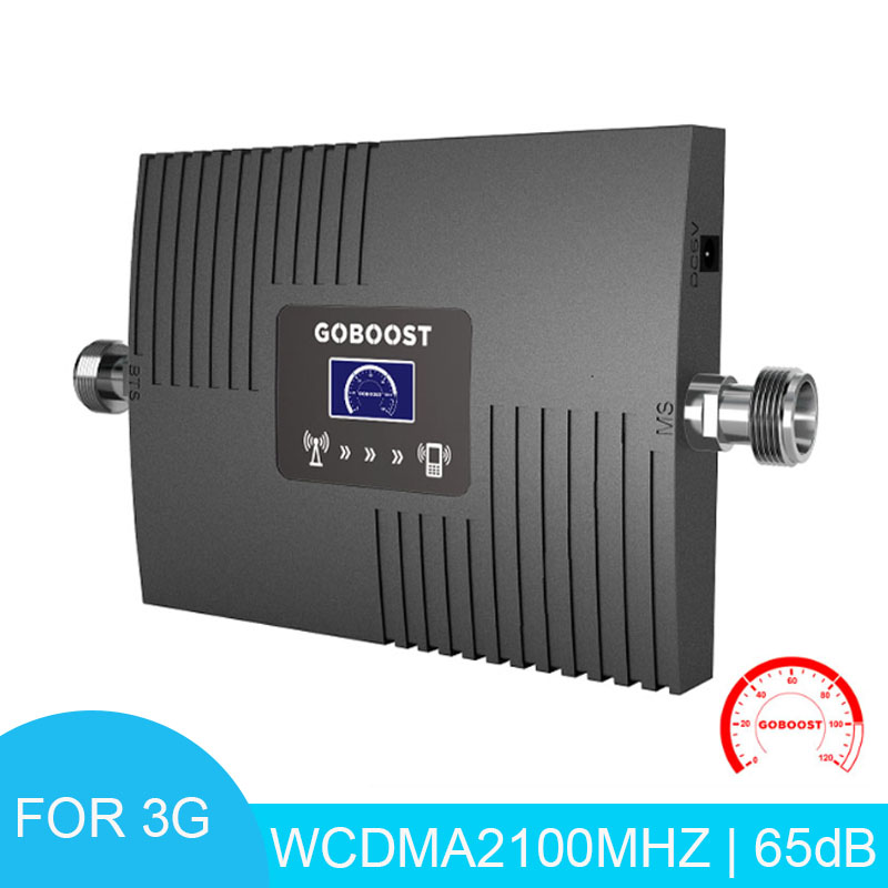 LCD Display Cellular Signal Amplifier WCDMA 2100mhz 3g Mobile Signal Amplifier 65dB Signal Booster Cell Repeater