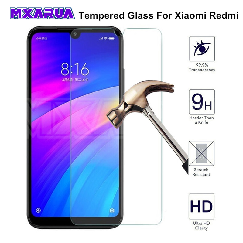 9H Tempered Glass For Xiaomi Redmi 7 7A 6 Pro 6A S2 Screen Protector Protective Glass on Redmi note 7 8 6 K20 Pro Glass Film