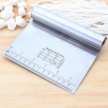 BEEMSK 1 шт. металлическая ломтерезка из нержавеющей стали, скребковая панель, инструмент для резки теста, порошок, стол, Scribing весы
