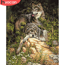 Oil-Painting Pictures Drawing Handpainted Canvas Wall-Art By Number Animal Acrylic Home-Decor