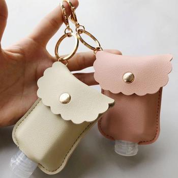 60ml Hand Sanitizer Bottle Portable Keychain Holder Travel Reusable Bottle Hand washing gel Sub-bottling with Keychain Carrier недорого
