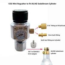 Australia,New Zealand Mini Portable SodaStream CO2 Regulator Charger for Homebrew  Beer Corny Cornelius Keg