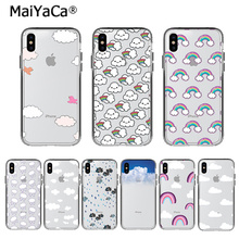 MaiYaCa Cute Clouds Graphic Phone Cases for iPhone X 6 6S 7 8 Plus XS XR Max Girly Ultra-Thin Soft TPU Back Cover