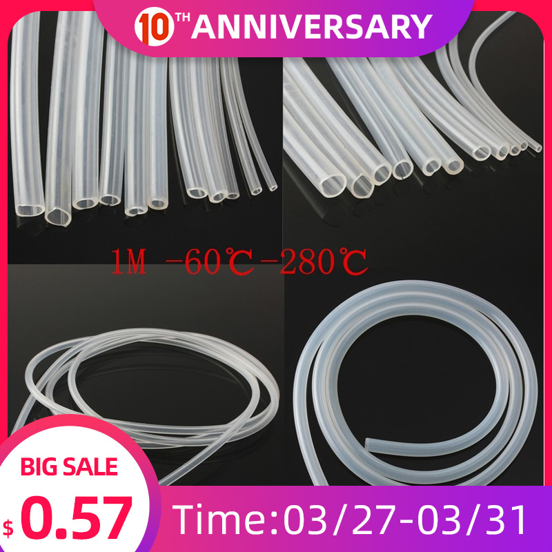 1 Meter Food Grade Transparent Silicone Tube Soft Rubber Hose 3 4 5 6 7 8 9 10mm Out Diameter Flexible Milk Hose Beer Pipe