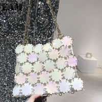 2019 New Autumn Winter Chain Split Joint Shining Sequins Personality Accessories Women Fashion Tide All match Z671