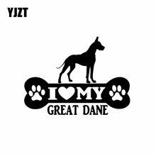 YJZT 14.6X10.8CM benim büyük Dane kemik araba Sticker vinil çıkartması köpek yavrusu siyah/gümüş C24-1524