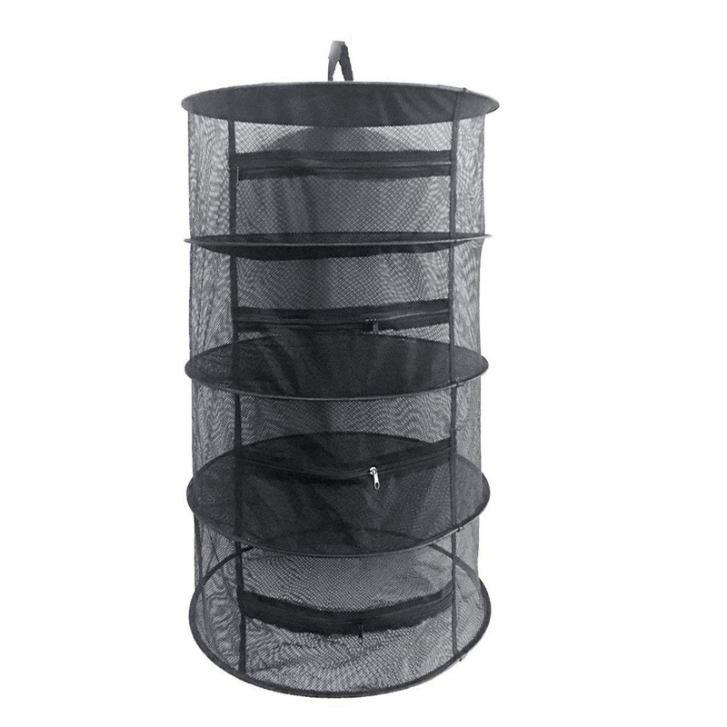 4 Layers Hanging Herb Drying Net With Zippers Herb Dryer Mesh Tray Drying Rack Flowers Buds Mesh Drying Net