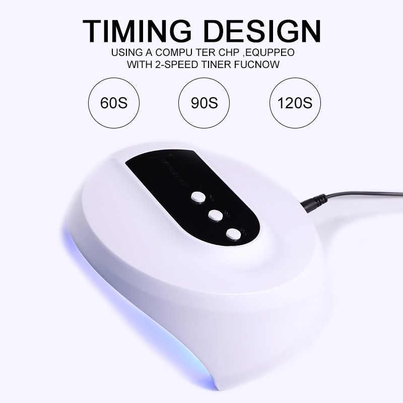 36W UV מנורת Led עבור כל סוגי לק UV ג 'ל USB UV מנורת ForNail מכונה ריפוי מנורת עם טיימר נייל אמנות כלי