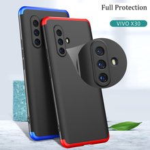 For VIVO X30 Pro Case Hard Hybrid PC 360 Full Body Protective Back Cover for VIVO X30 X30Pro Phone Case Fundas Coque plating tpu phone case for vivo x30 x30 pro soft silicone upscale phone cases mobile phone accessories