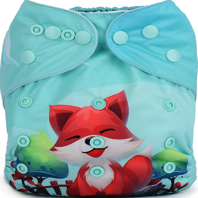China All In One Cotton Baby Cloth Diapers Wholesale Organic Reusable Cloth Nappies DY19
