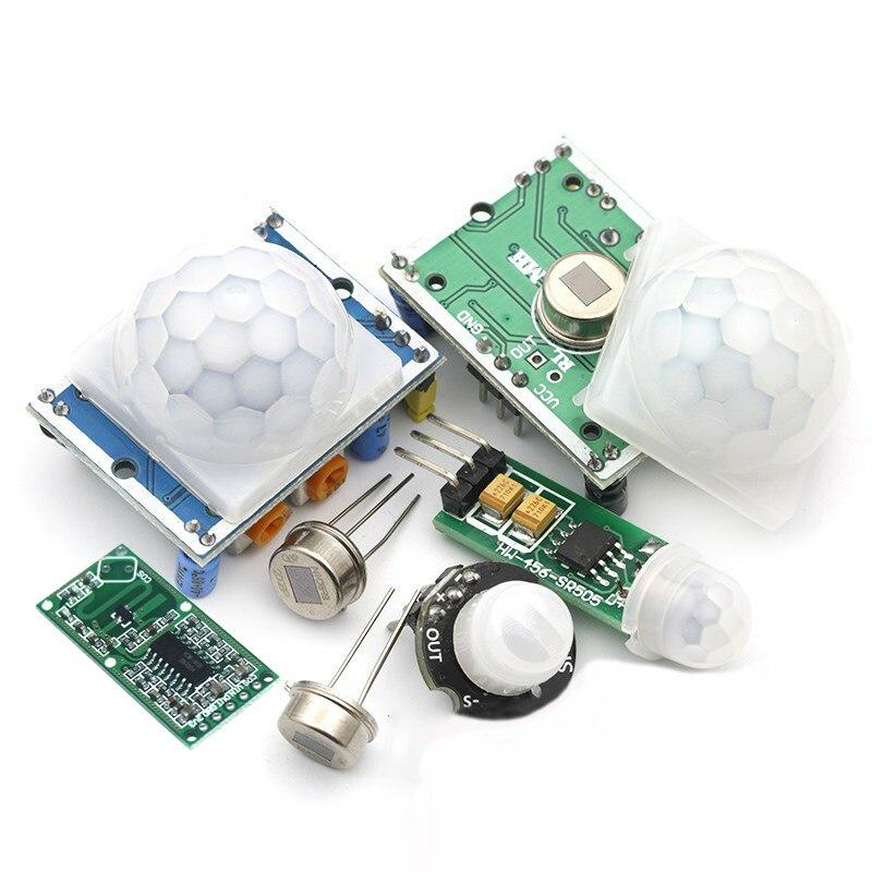 HC SR501 HC SR505 AM312 SR602 Регулировка ИК пироэлектрический инфракрасный Мини PIR модуль датчик движения Детектор модульный кронштейн для arduino|Интегральные схемы|   | АлиЭкспресс