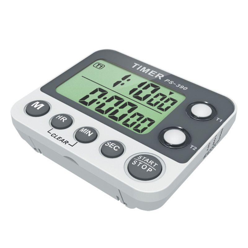 2 Channel Timer Stopwatch Kitchen Cooking Countdown Alarm Clock Reminder 0.01s